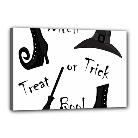 Halloween witch Canvas 18  x 12