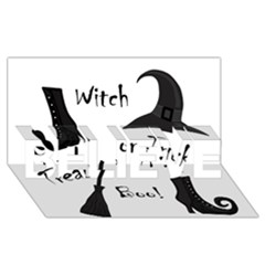 Halloween witch BELIEVE 3D Greeting Card (8x4)