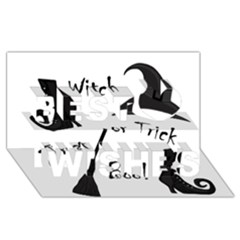 Halloween witch Best Wish 3D Greeting Card (8x4)