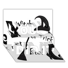 Halloween witch You Did It 3D Greeting Card (7x5)