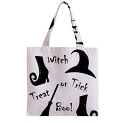 Halloween witch Zipper Grocery Tote Bag