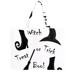 Halloween witch Zipper Large Tote Bag