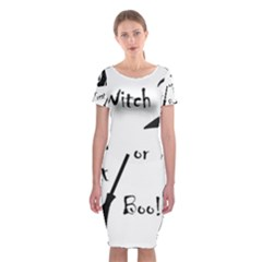 Halloween witch Classic Short Sleeve Midi Dress