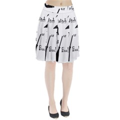Halloween witch Pleated Skirt