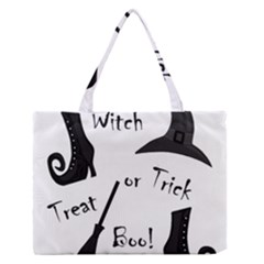 Halloween witch Medium Zipper Tote Bag