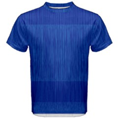 Scribbled Two Tone Blue Men s Cotton Tee