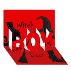 Witch supplies  BOY 3D Greeting Card (7x5)