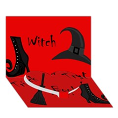 Witch supplies  Heart Bottom 3D Greeting Card (7x5)