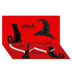 Witch supplies  Twin Heart Bottom 3D Greeting Card (8x4)