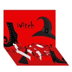 Witch supplies  LOVE Bottom 3D Greeting Card (7x5)