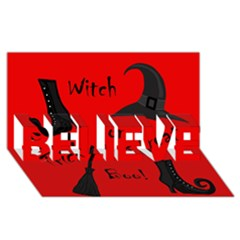 Witch supplies  BELIEVE 3D Greeting Card (8x4)