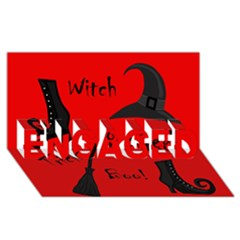 Witch supplies  ENGAGED 3D Greeting Card (8x4)