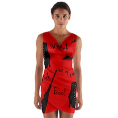Witch supplies  Wrap Front Bodycon Dress