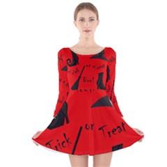 Witch supplies  Long Sleeve Velvet Skater Dress