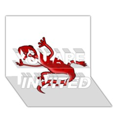 Red lizard YOU ARE INVITED 3D Greeting Card (7x5)