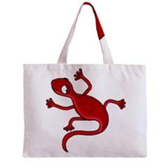 Red lizard Zipper Mini Tote Bag