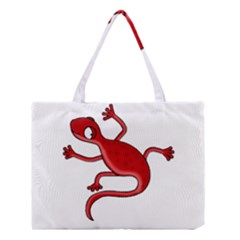 Red lizard Medium Tote Bag