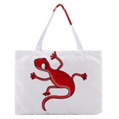 Red lizard Medium Zipper Tote Bag
