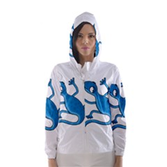 Blue lizard Hooded Wind Breaker (Women)