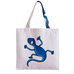 Blue lizard Zipper Grocery Tote Bag