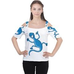 Blue lizard Women s Cutout Shoulder Tee