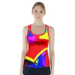 Umbrella Color Red Yellow Green Blue Purple Racer Back Sports Top