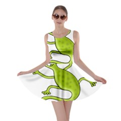 Green lizard Skater Dress