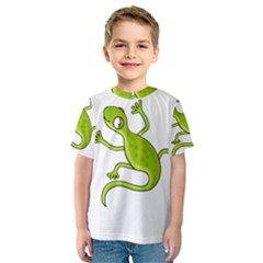Green lizard Kids  Sport Mesh Tee
