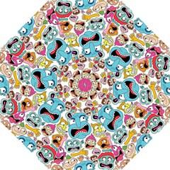 Weird Faces Pattern Golf Umbrellas