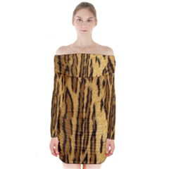 Wildlifesafrica Long Sleeve Off Shoulder Dress