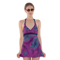 ASIA DRAGON Halter Swimsuit Dress