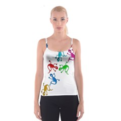 Colorful lizards Spaghetti Strap Top