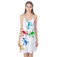 Colorful lizards Camis Nightgown