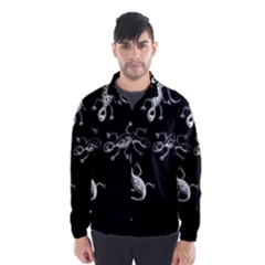Black and white lizards Wind Breaker (Men)