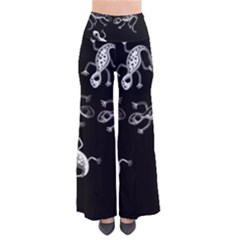 Black and white lizards Pants