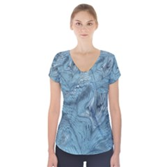 Frost Dragon Short Sleeve Front Detail Top
