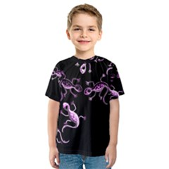 Purple lizards Kids  Sport Mesh Tee