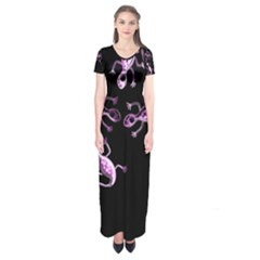 Purple Lizards Short Sleeve Maxi Dress