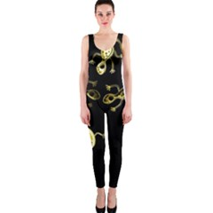 Yellow lizards OnePiece Catsuit