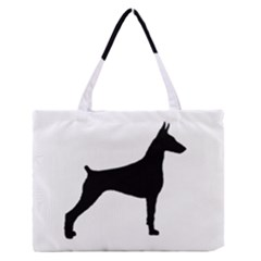 Doberman Pinscher Silo Black Medium Zipper Tote Bag
