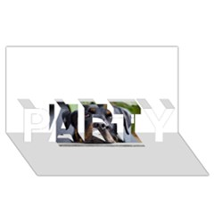 Rottweiler 2 PARTY 3D Greeting Card (8x4)