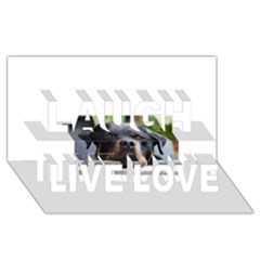 Rottweiler 2 Laugh Live Love 3D Greeting Card (8x4)