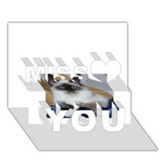 Birman second Miss You 3D Greeting Card (7x5)