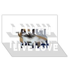 Birman second Laugh Live Love 3D Greeting Card (8x4)