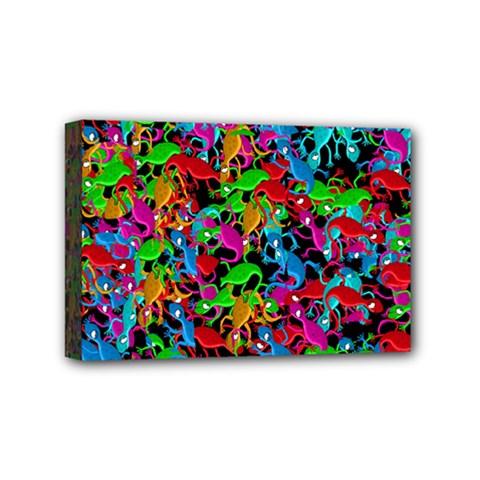 Lizard pattern Mini Canvas 6  x 4
