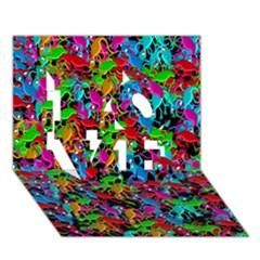 Lizard pattern LOVE 3D Greeting Card (7x5)