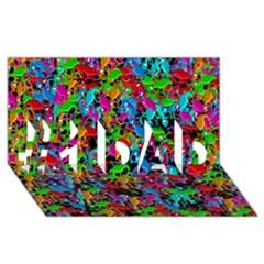 Lizard pattern #1 DAD 3D Greeting Card (8x4)