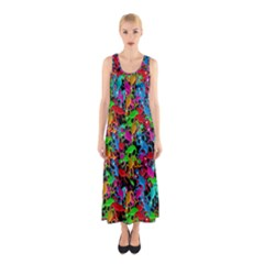 Lizard pattern Sleeveless Maxi Dress