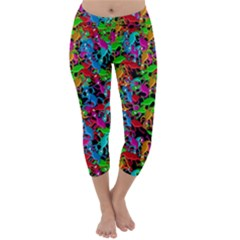 Lizard pattern Capri Winter Leggings