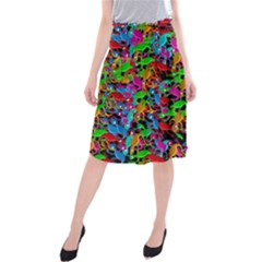 Lizard Pattern Midi Beach Skirt